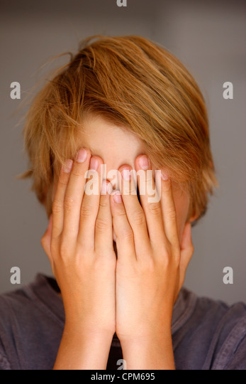 TIMID ADOLESCENT - Stock Image