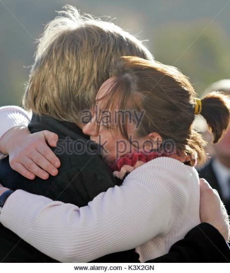 Paul Myers at the funeral of Geraldine O'Keefe, mother of actor Jonathon Rhys Myers of 'The Tudors' - Stock Image
