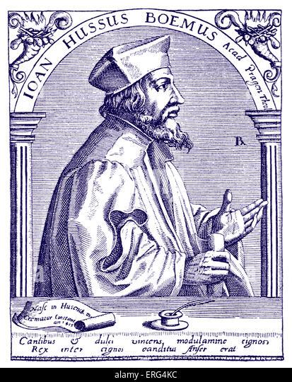 John Huss.  Czech Catholic priest, church reformer and academic 1372 - 6 July 1415. - Stock-Bilder