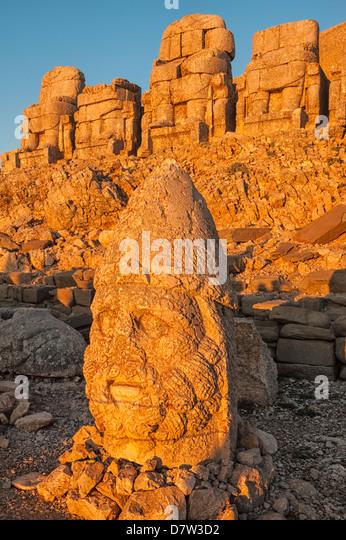 Head of Hercules, Mount Nemrut sanctuary, ruins of the Commagene civilization, UNESCO World Heritage Site, Anatolia, - Stock Image