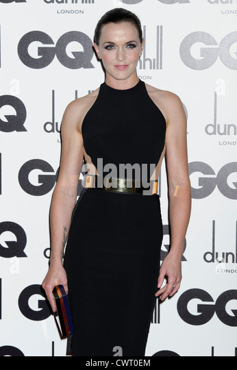 Victoria Pendleton arrives for the GQ Men of the Year Awards at a central London venue. - Stock Image