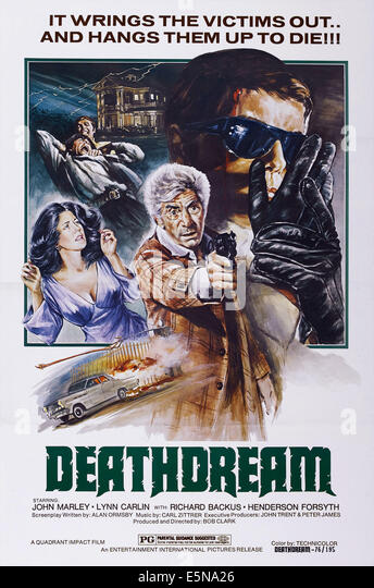 DEATHDREAM, (aka DEAD OF NIGHT), US poster art, John Marley (center), Richard Backus (right), 1972 - Stock Image