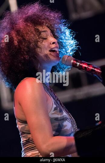 Cartagena, Spain. 17th July, 2017. American singer, Kandance Springs live at La Mar de Musicas Festival. Credit: - Stock Image