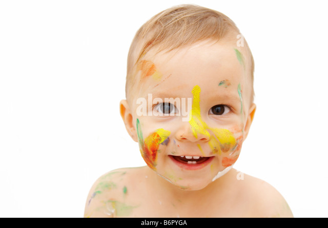 how to style spiky hair child stock photos amp child stock 5557 | painted baby face b6pyga