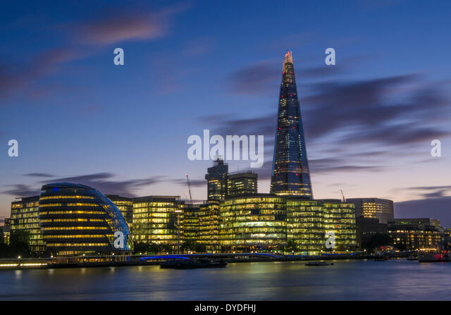 A view towards City Hall and the Shard. - Stock Image