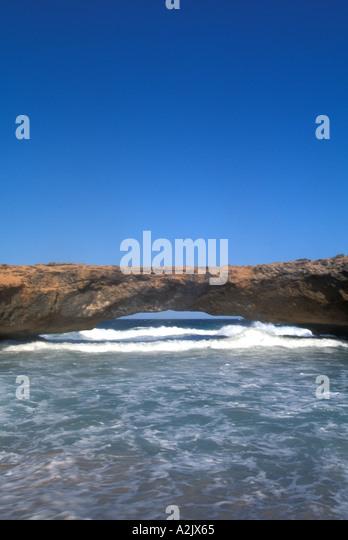 Aruba Natural Bridge - Stock Image