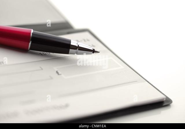 Cheque - Stock-Bilder