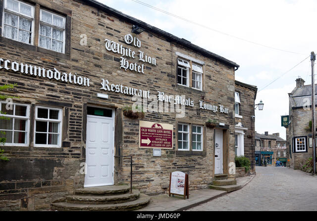 The Old White Lion, Haworth, West Yorkshire - Stock Image