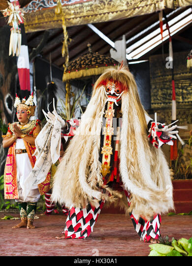 Barong and Keris dance, Bali, Indonesia - Stock Image