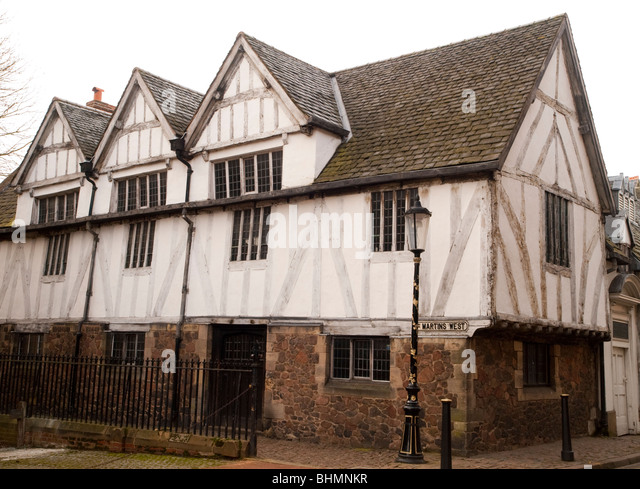 The Guildhall on St Martin's West in Leicester City Centre, Leicestershire England UK - Stock Image