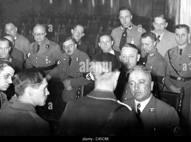 Robert Ley with political leaders of the NSDAP. - Stock Image