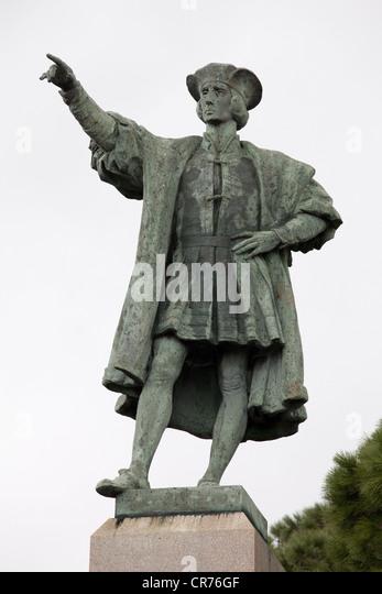 Columbus, Christopher, 1451 - 20.5.1506, Italian explorer, full length, monument, Rapallo, Italy, Colombo, Colon, - Stock-Bilder