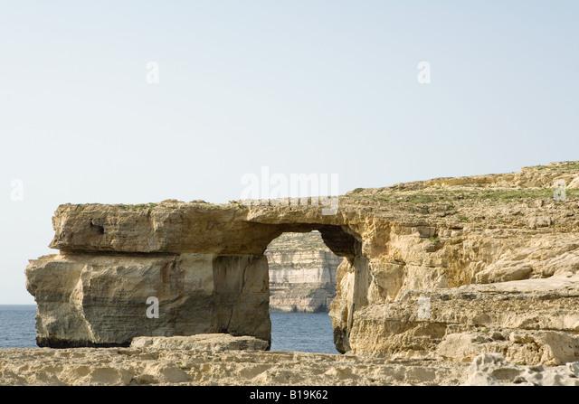 The Azure window, a natural bridge on the island of Gozo, Malta - Stock Image