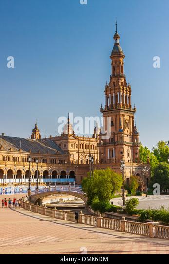 Plaza de Espana in Sevilla - Stock Image