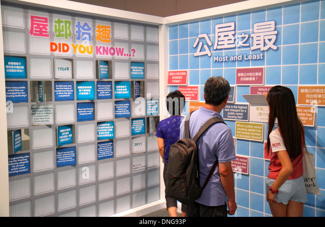 Hong Kong China Kowloon Tsim Sha Tsui Kowloon Park Hong Kong Heritage Discovery Centre museum exhibit public housing - Stock Image