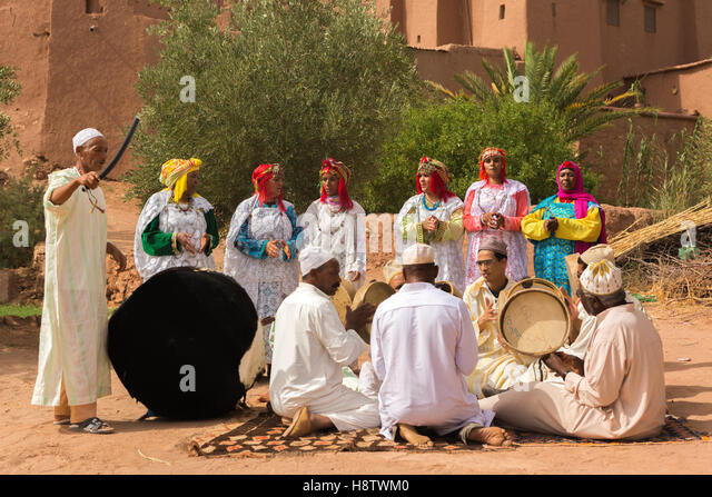 Traditional Wedding Ceremony Music: Traditional Berber Wedding Stock Photos & Traditional