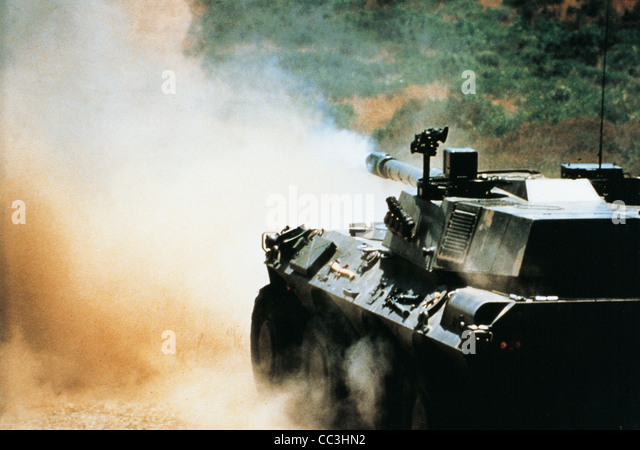 Twentieth Century Italian Military Vehicles Heavy Armored Centauro Nineties - Stock Image