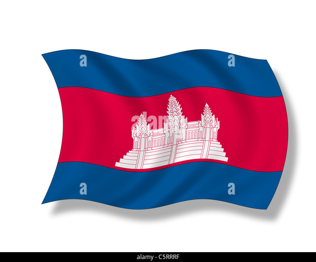 Illustration, Cambodian Flag - Stock Image