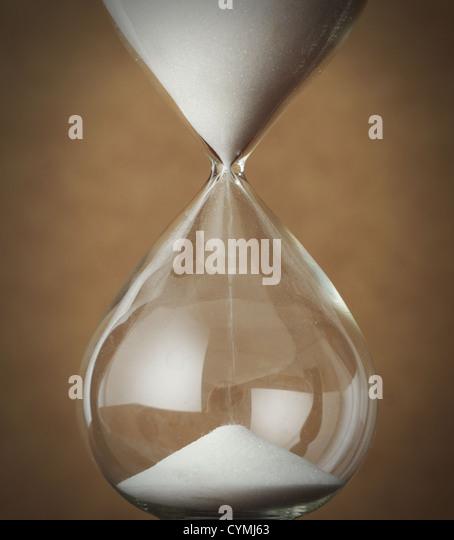 time concept: vintage hourglass close up - Stock-Bilder