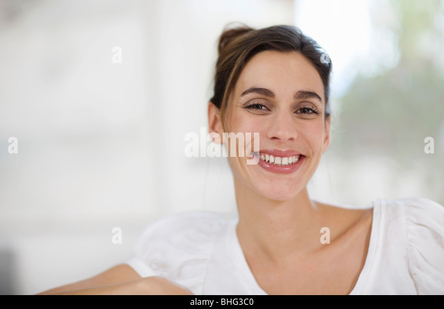 a warm smile - Stock Image