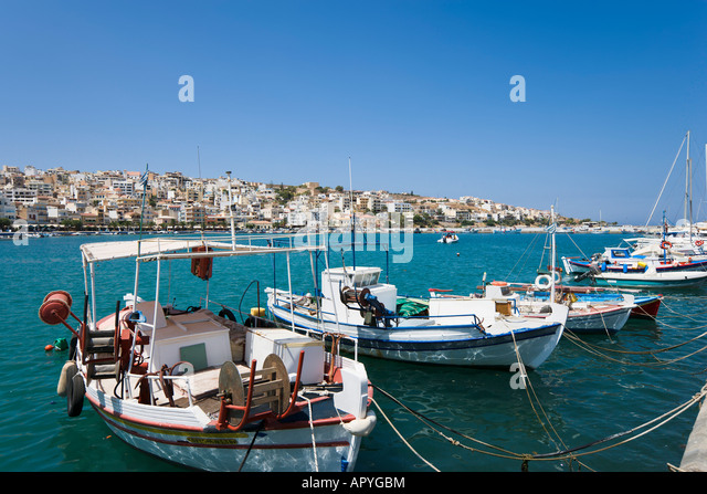 Harbour, Sitia, Lasithi Province, North East Coast, Crete, Greece - Stock-Bilder