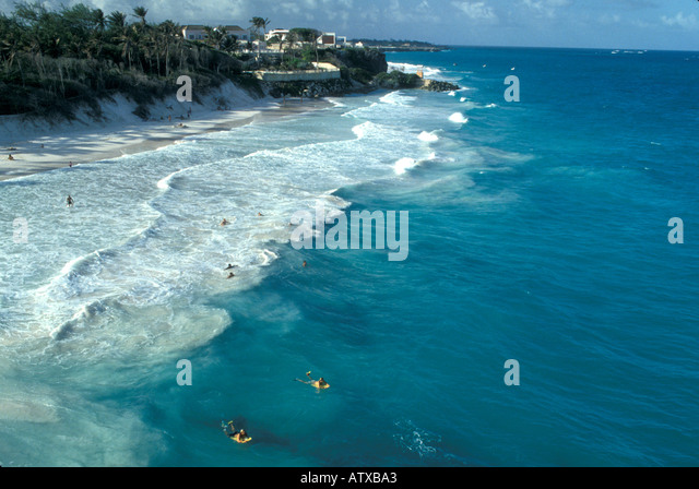 Barbados West Indies Caribbean Atlantic Coast Beach Crane Bay - Stock Image