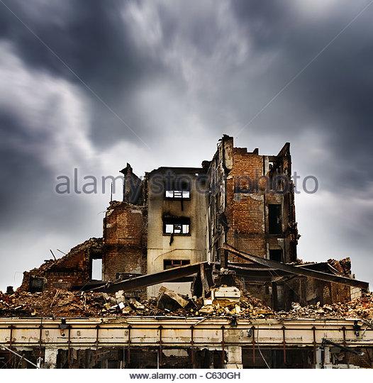 Fire damaged building, Southsea Portsmouth - Stock-Bilder