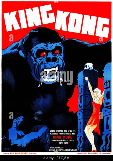 'King Kong', a giant movie monster that has appeared in several movies since 1933. - Stock Image