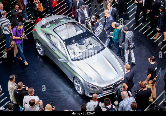 World premiere of the Mercedes-Benz S-Class Coupe, 65th International Motor Show IAA 2013, Frankfurt am Main, Hesse, - Stock Image
