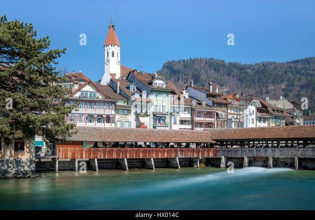 Lower Sluice, Thun, Berne, Switzerland - Stock-Bilder