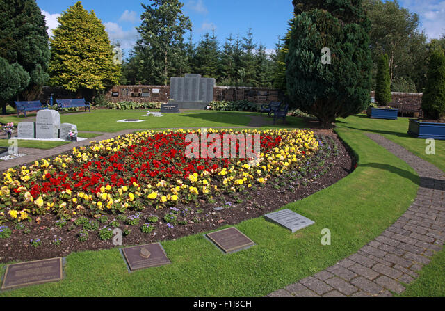 Lockerbie PanAm103 In Rememberance Memorial Garden,Scotland - Stock Image