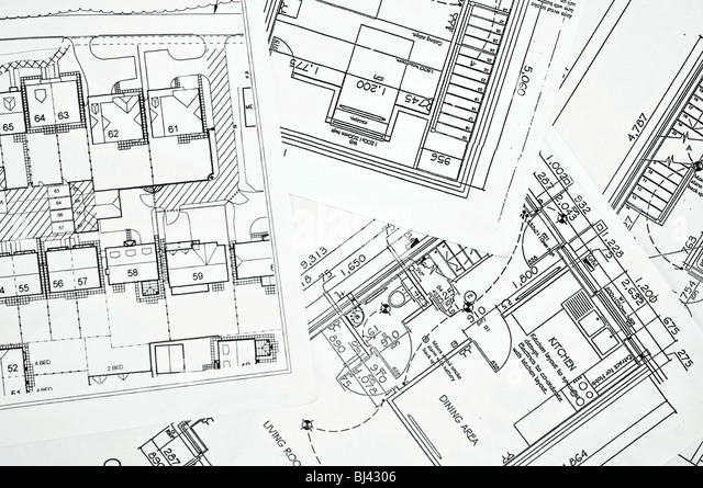 Floor plans - Stock Image