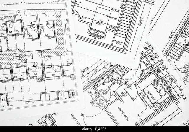 Floor plans - Stock Image