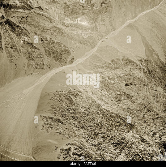 historical aerial photograph of the area east of Salton Sea, Imperial County, California, 1947 - Stock Image
