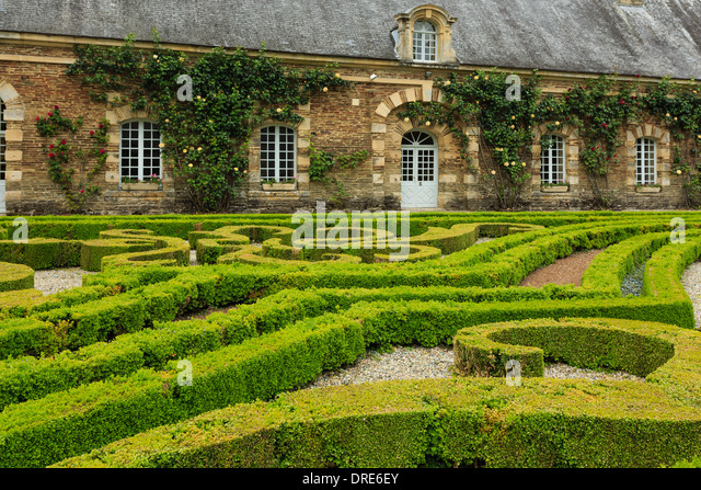 Chateau De Balleroy Balleroy Normandy Stock Photos