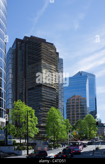Modern Buildings in Vancouver, British Columbia, Canada - Stock Image