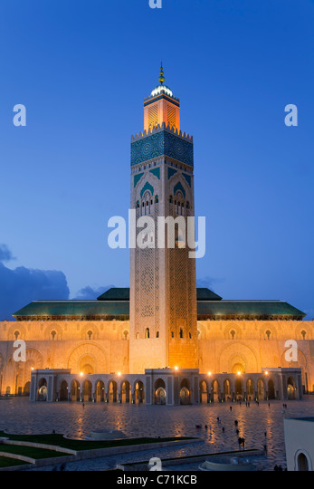 Hassan II Mosque, the third largest mosque in the world, Casablanca, Morocco, North Africa - Stock-Bilder