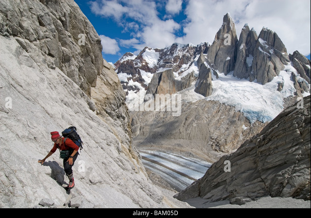 Climber at poincenot - Stock Image