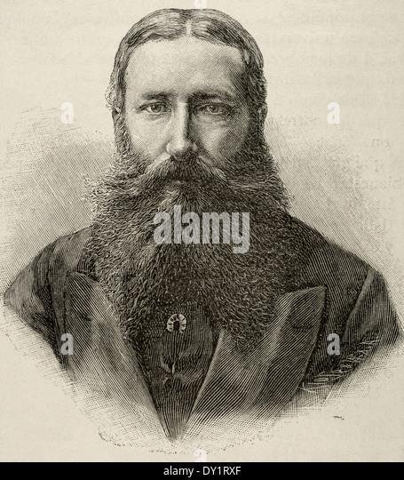 Leopold II of Belgium (1835-1909). King of the Belgians. Engraving. - Stock-Bilder