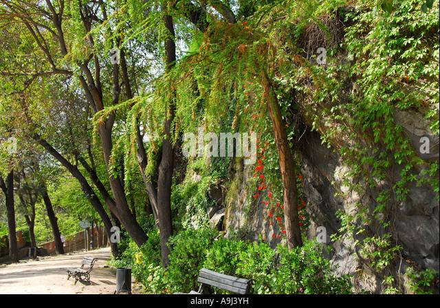 Santiago Chile Cerro Santa Lucia hilltop park - Stock Image