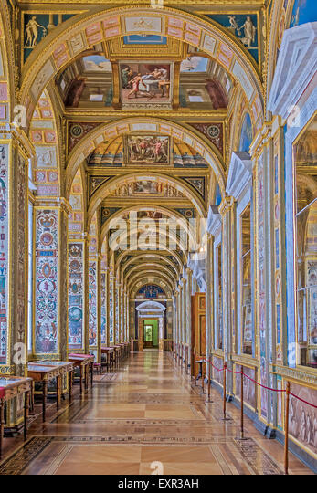 The Raphael Loggias The Hermitage Museum  St. Petersburg Russia - Stock Image