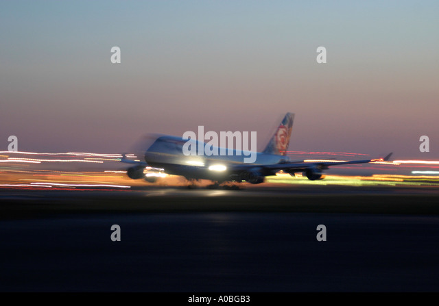 British Airways Boeing 747 taking off at London Heathrow Airport UK - Stock Image