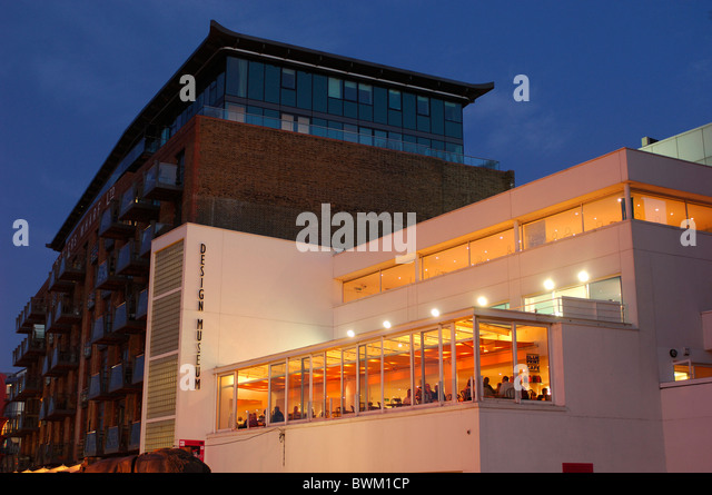 UK London Blue Print Cafe at Design Museum Thames Path London Bridge Great Britain Europe England building a - Stock Image