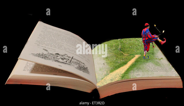 grass, surreal photography, book, story, fiction, surreal manipulation, photoshop, abstract art, story book, - Stock Image