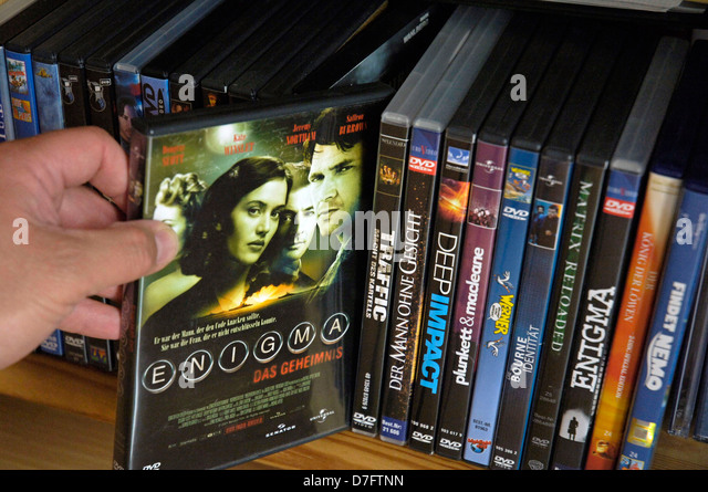 DVD, DVDs, films, film, movies - Stock Image
