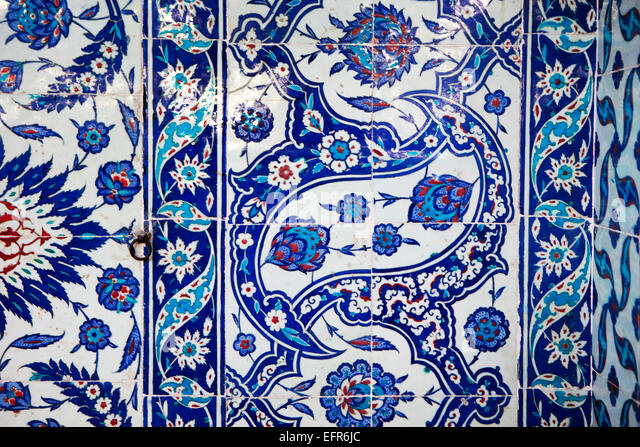 Rustem Pasha Mosque, architect Sinan (1561), Istanbul, Turkey - Stock Image