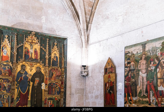 Palma de Majorca, Spain, Sacred paintings in the museum of the Cathedral - Stock Image