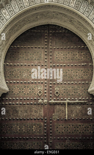 Ancient doors, Morocco - Stock Image