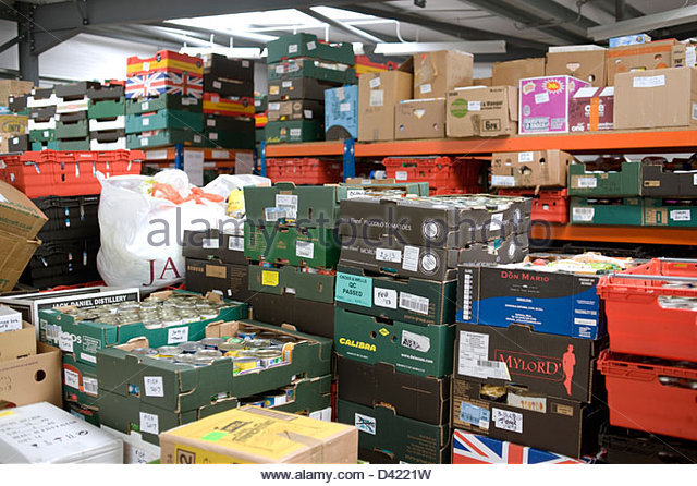 A foodbank in Norwich run by the Trussell Trust - Stock Image