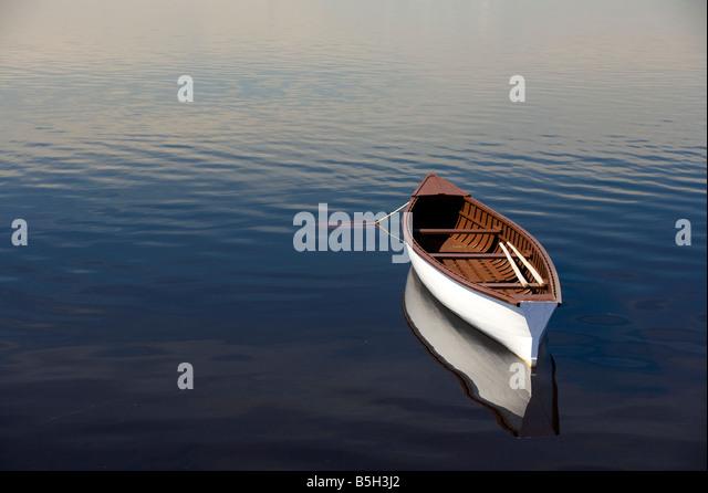 Gander River canoe Gander Bay Newfoundland&Labrador Canada - Stock Image